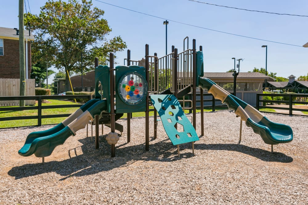 Childrens' play area at Audubon Park in Nashville, Tennessee