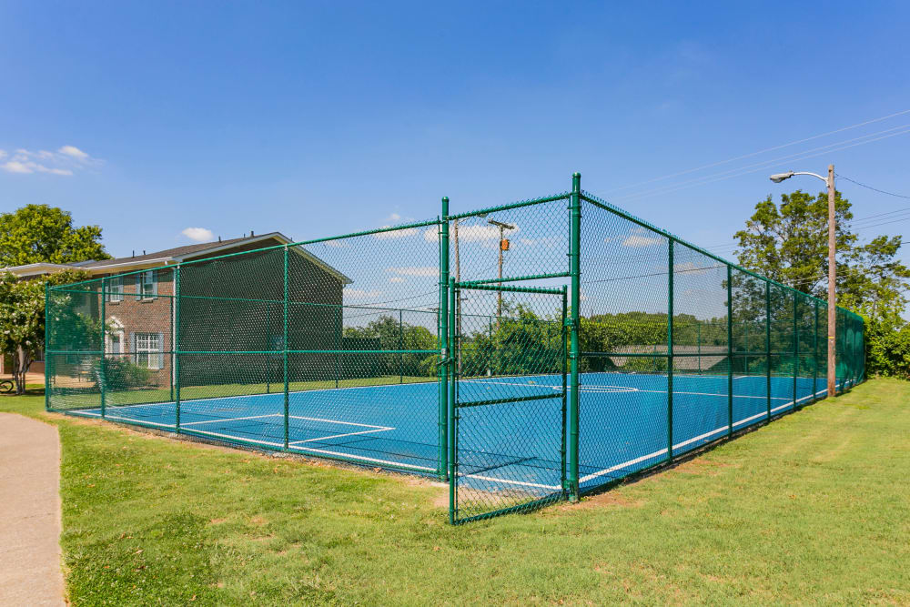 Challenge your neighbors to a game of tennis at Audubon Park in Nashville, Tennessee