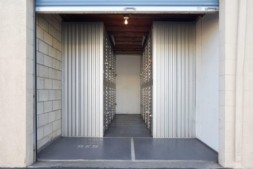 Doorway to units at Stor'em Self Storage in Chula Vista, California