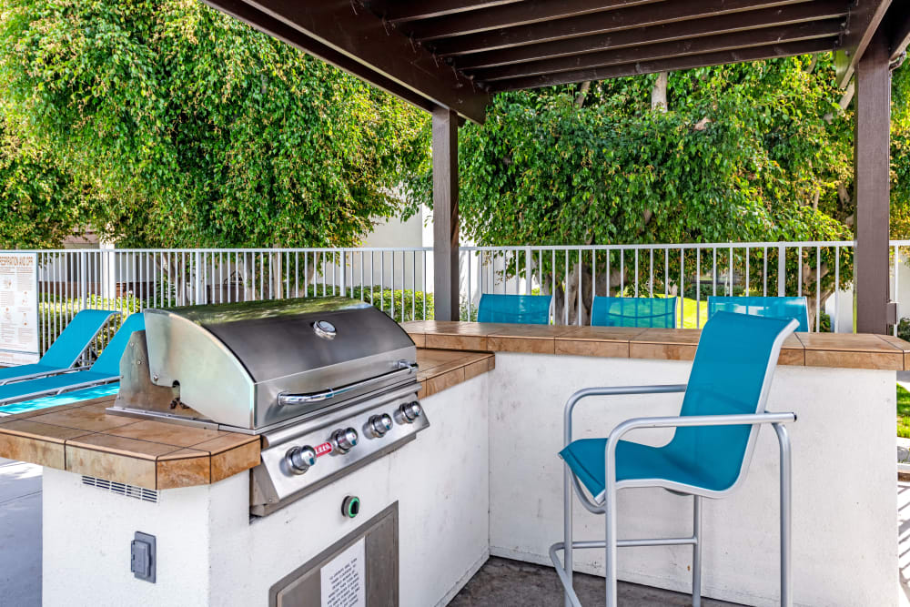covered Poolside BBQ area