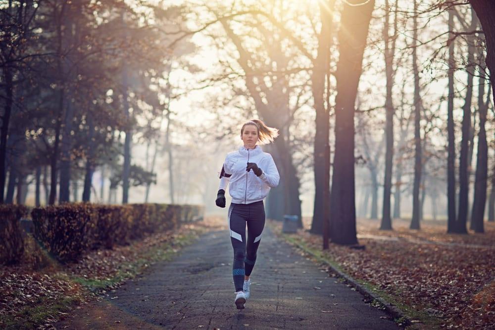 Resident on a jog in Syracuse, New York near Brookmanor