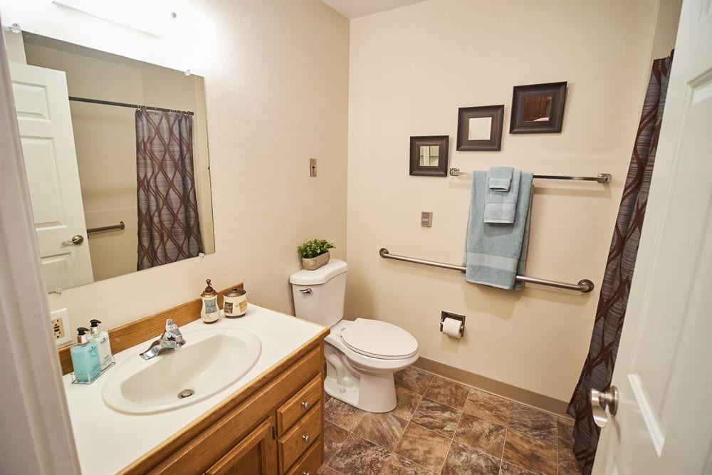 Bathroom at Emerald Gardens in Woodburn, Oregon