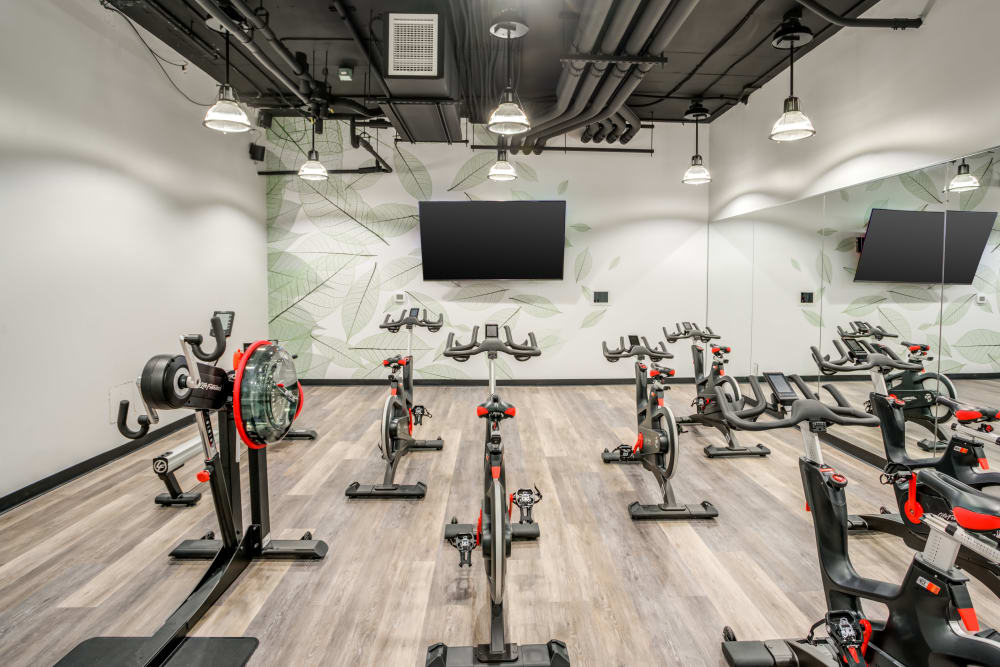 Fitness center at 55 West Apartments in Orlando, Florida