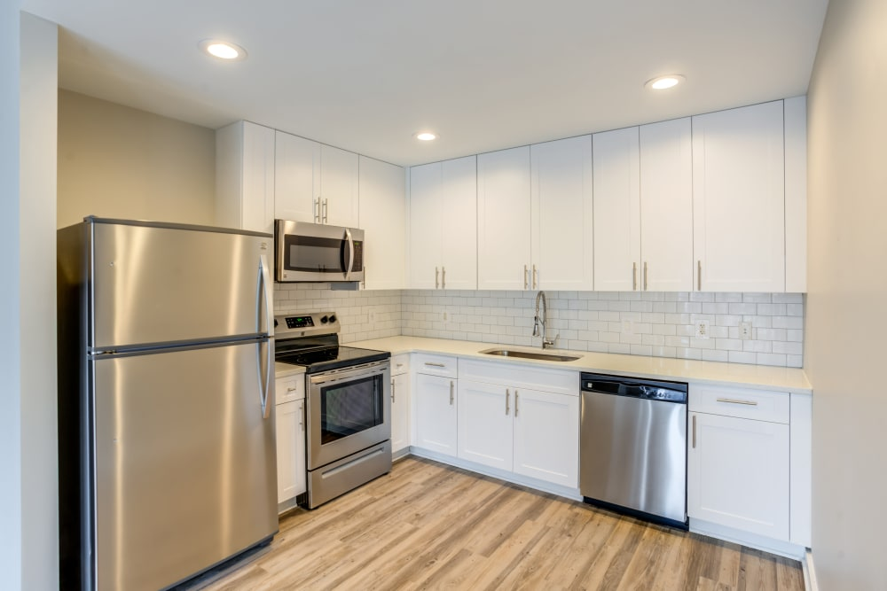 Kitchen at 55 West Apartments in Orlando, Florida