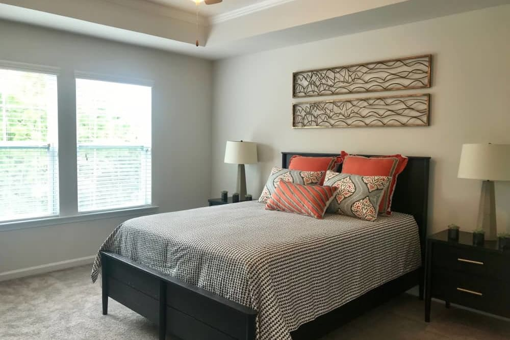 Master bedroom at The Village at Mill Creek in Statesboro, Georgia