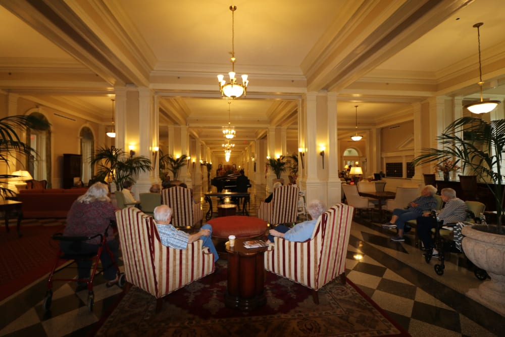 Grand Lobby at The Chamberlin in Hampton, Virginia