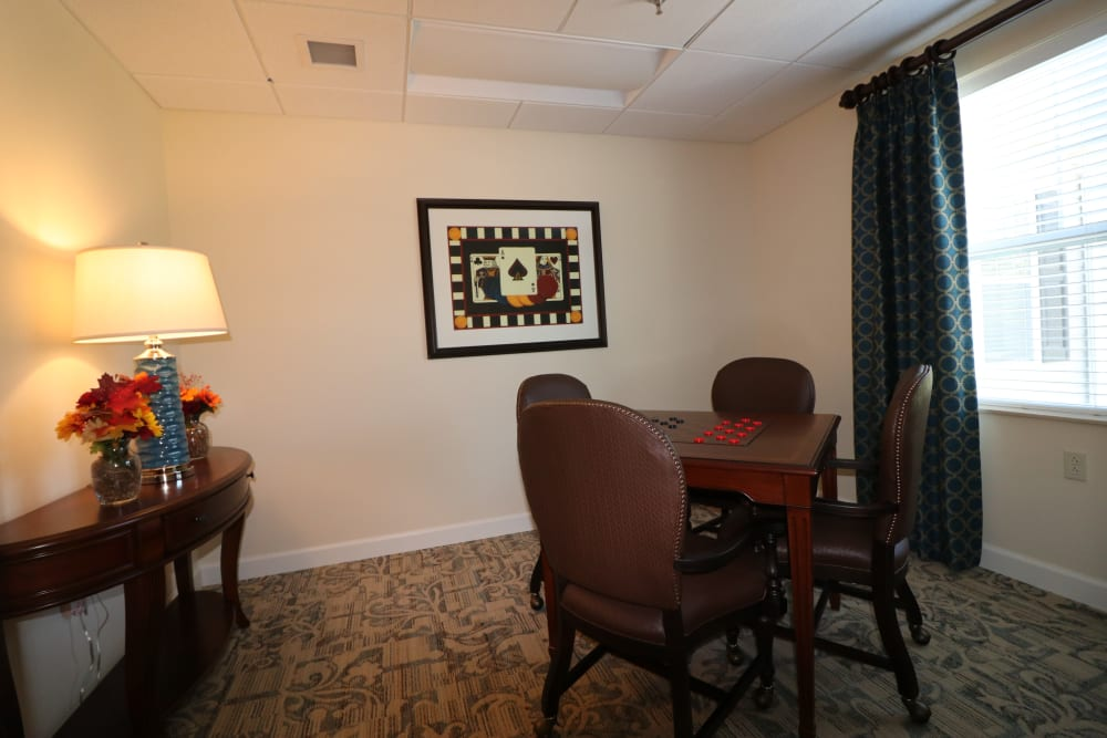 A gathering area at The Harmony Collection at Roanoke - Assisted Living in Roanoke, Virginia