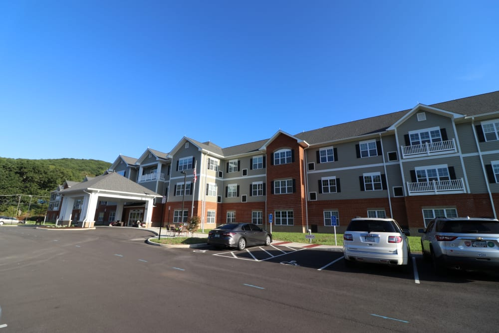 An exterior view of The Harmony Collection at Roanoke - Assisted Living in Roanoke, Virginia