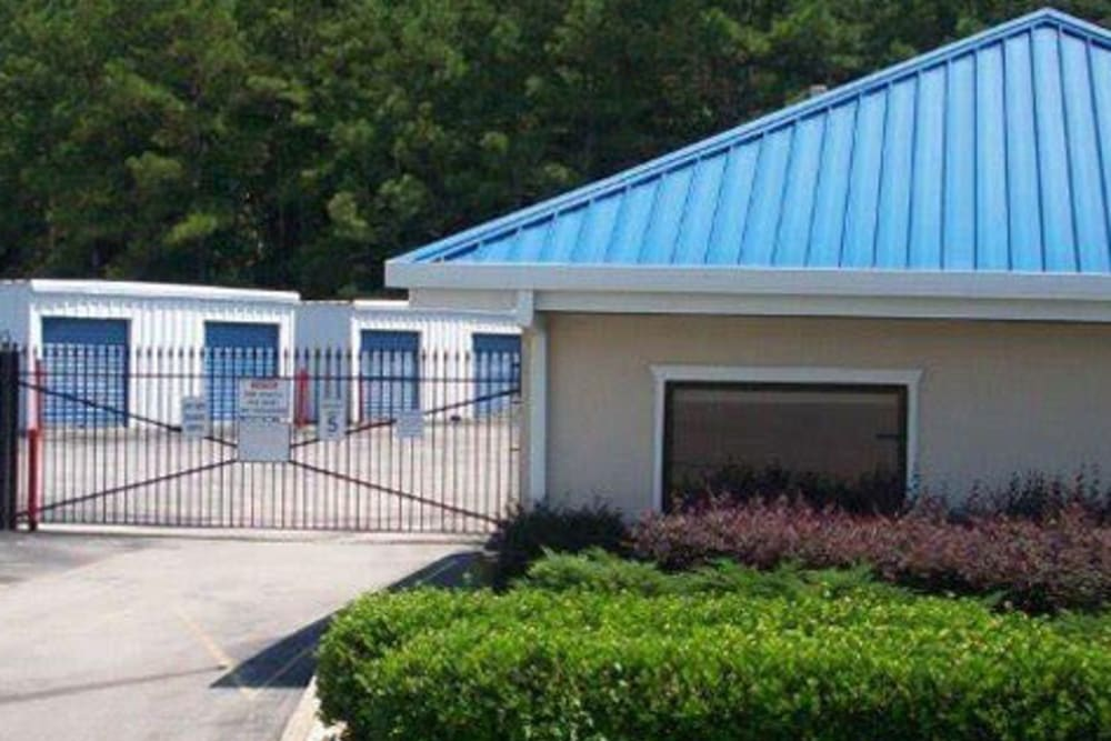 Fenced units at Greystone Self Storage in Birmingham, Alabama