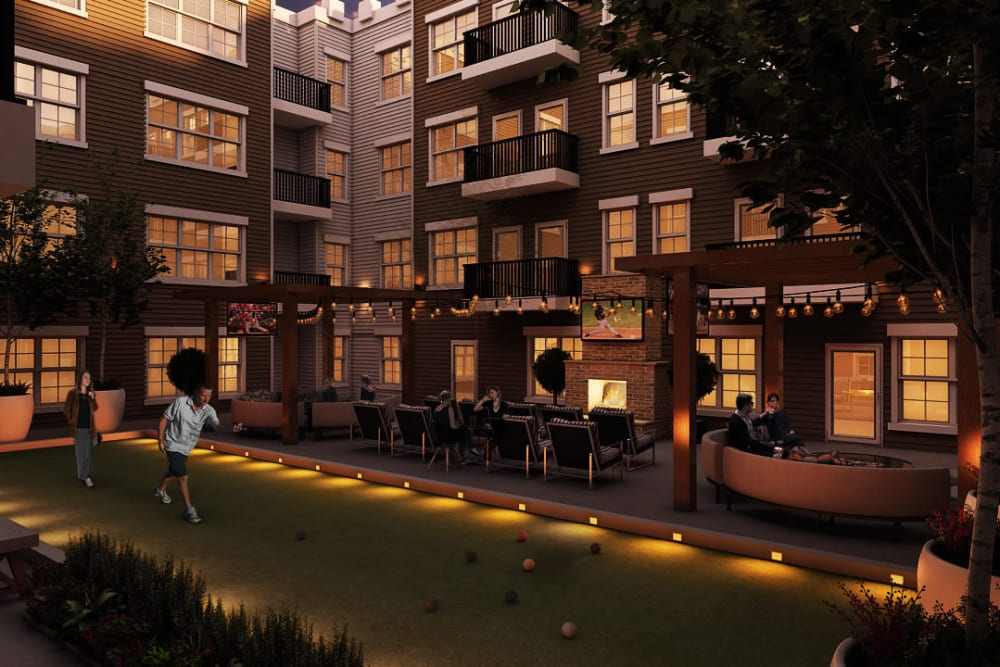 Rendering of the lounge deck at Tribeca in Saint Louis, Missouri