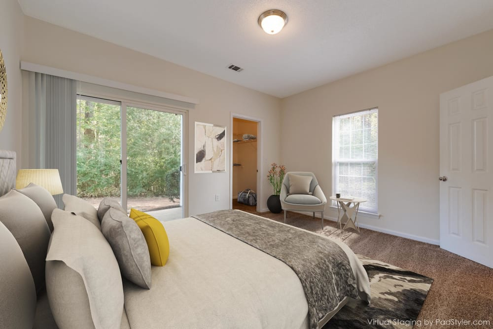 Bedroom at Forest Oaks Apartment Homes in Rock Hill, South Carolina
