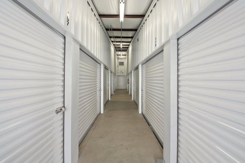 Indoor storage units at Global Self Storage in Edmond, Oklahoma