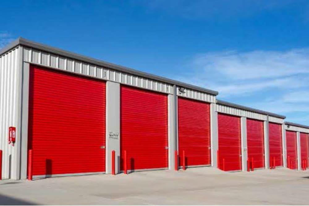 Exterior storage units at Global Self Storage in Edmond, Oklahoma