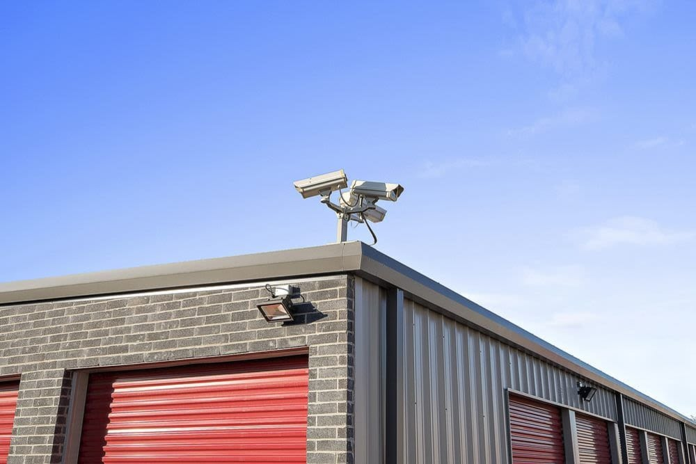 Security camera at Global Self Storage in Edmond, Oklahoma