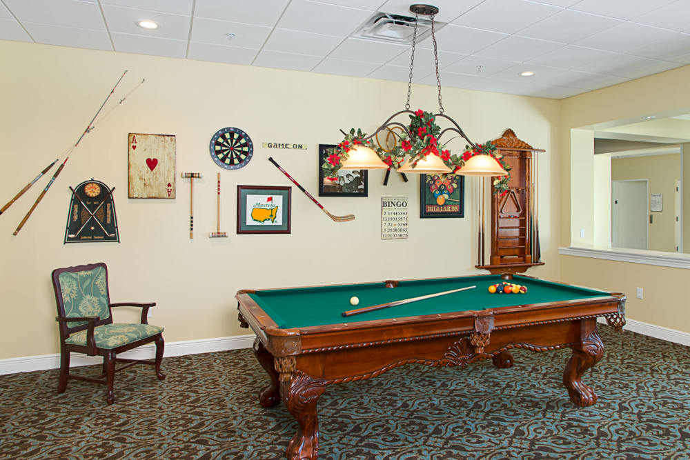 Pool table at Grand Villa of St. Petersburg in Florida