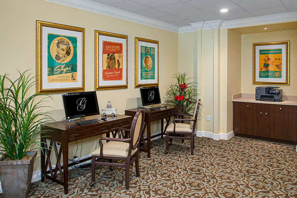 Business center at Grand Villa of St. Petersburg in Florida