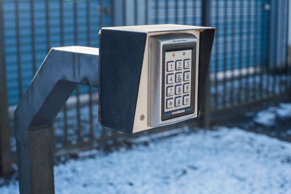 Security keypad at Sound Storage in Port Orchard, Washington