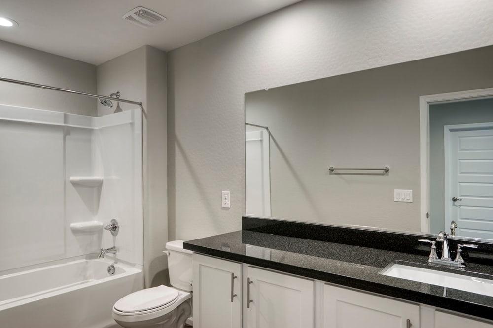 modern and spacious bathroom at BB Living at Val Vista in Gilbert, Arizona