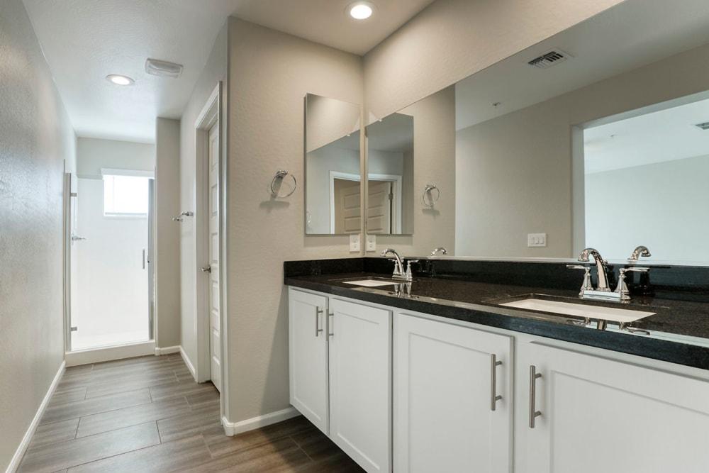 upgraded luxury bathroom at BB Living at Val Vista in Gilbert, Arizona