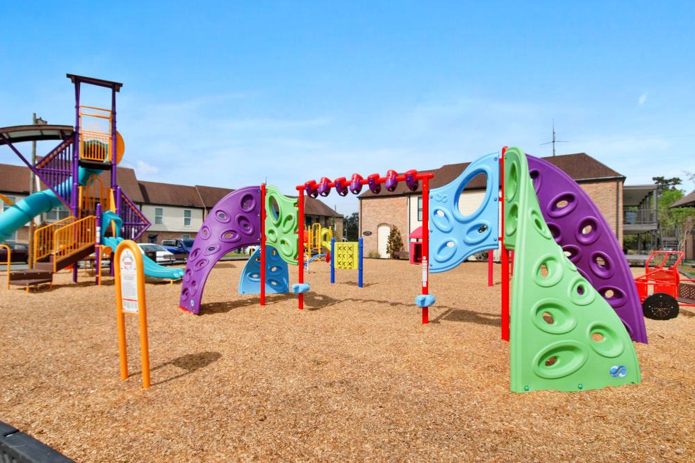 Fun playground climbing equipment at The Mayfair Apartment Homes in New Orleans, Louisiana