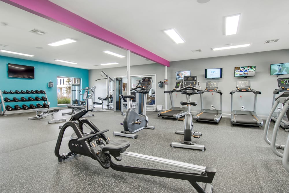 Fitness Center at The Mayfair Apartment Homes in New Orleans, Louisiana
