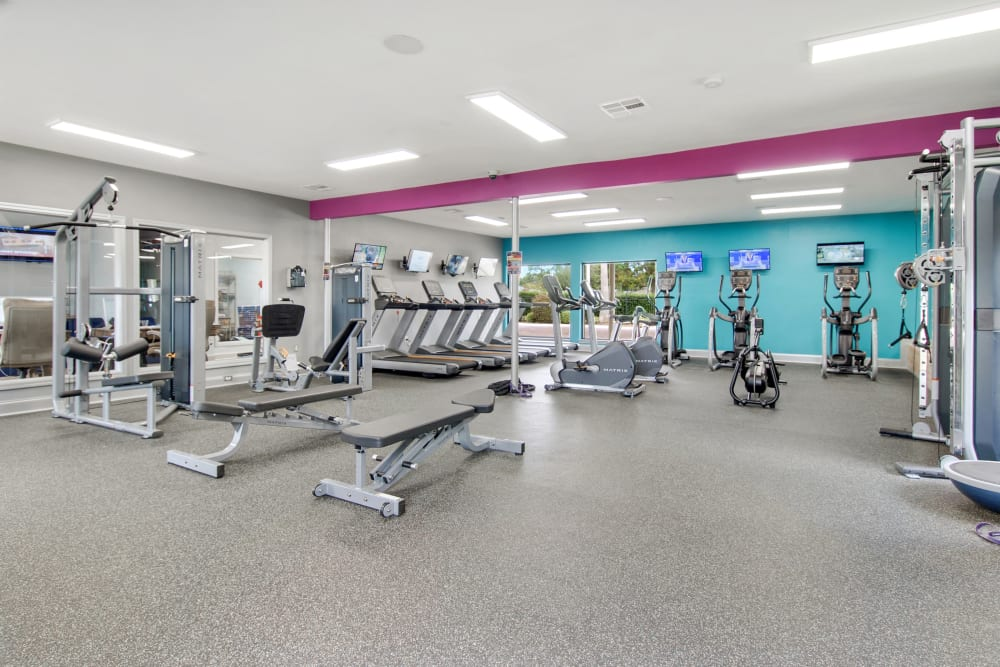 Fitness Center at Apartments in New Orleans, Louisiana