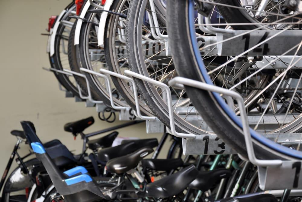 Bike rack at 770 C Street Apartments in Washington, District of Columbia