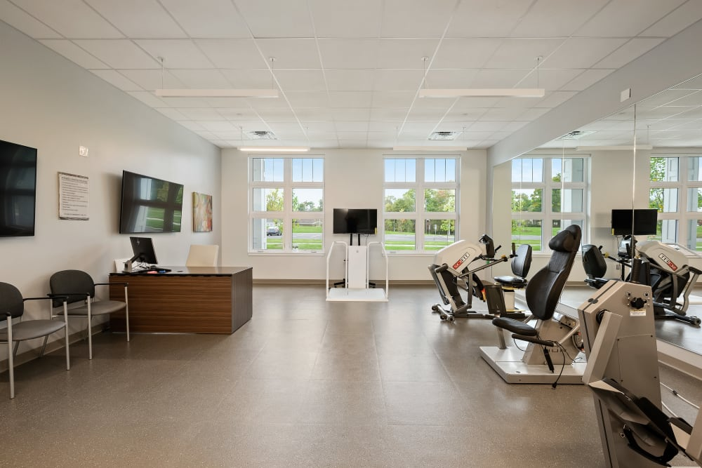 Fitness and stretching gym at Anthology of Simsbury in Simsbury, Connecticut
