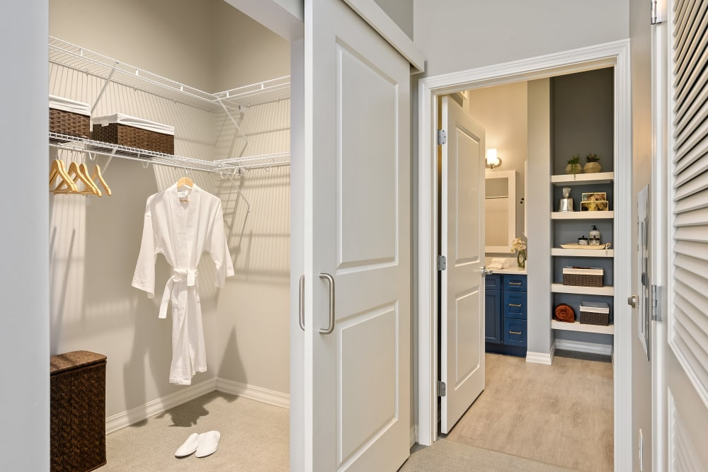 Large closet in apartment at Anthology of Simsbury in Simsbury, Connecticut