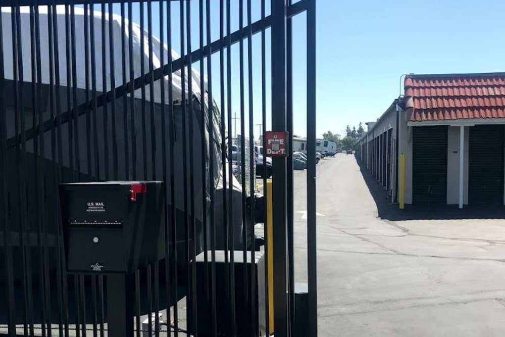 Gated security at Storage Solutions in Pomona, California