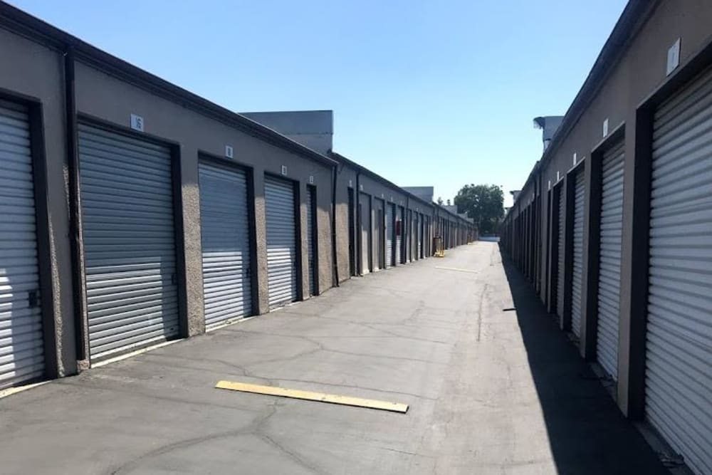 Outdoor units at Storage Solutions in Pomona, California