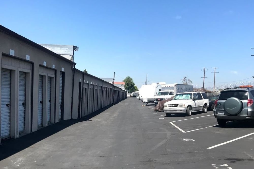 RV storage at Storage Solutions in Pomona, California