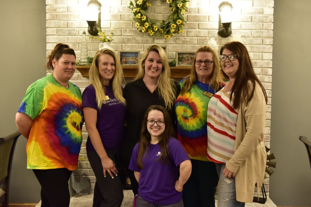 Staff members at Reflections at Garden Place in Columbia, Illinois.
