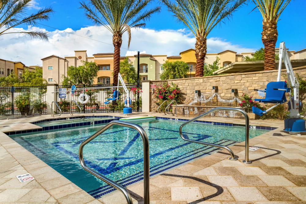 swimming pool at The Park at Modesto Independent Living Community