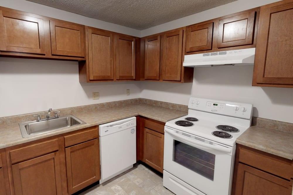 Bright kitchen at Country Glenn in Grand Island, New York