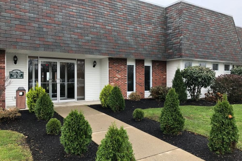 Exterior of Country Glenn's leasing office in Grand Island, New York