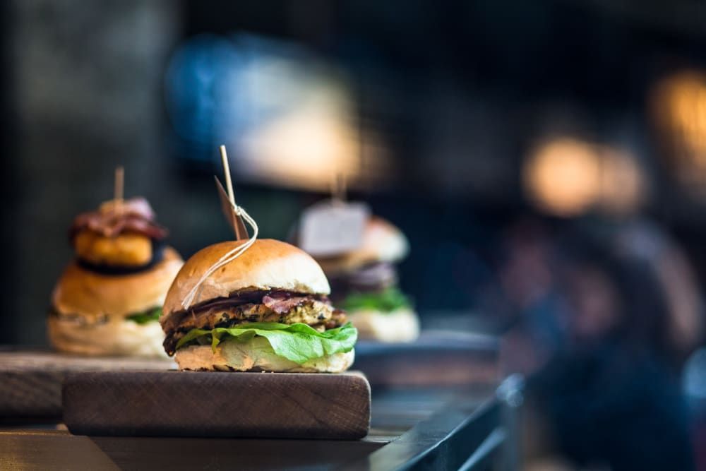 Burgers at a local restaurant near The Vue at Westchester Commons in Midlothian, Virginia