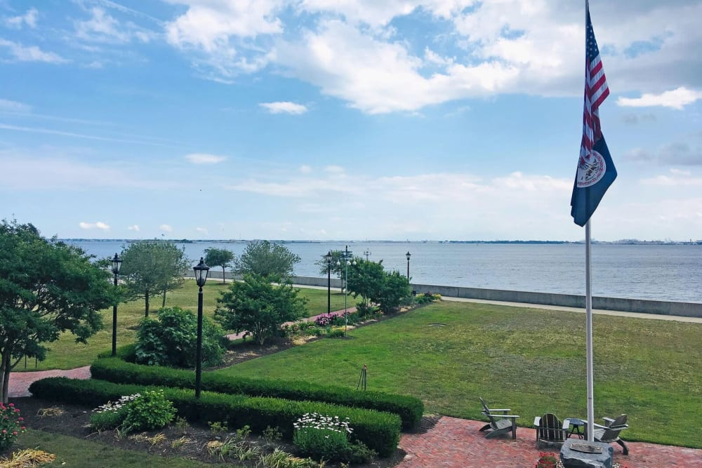 A waterfront view at The Chamberlin in Hampton, Virginia