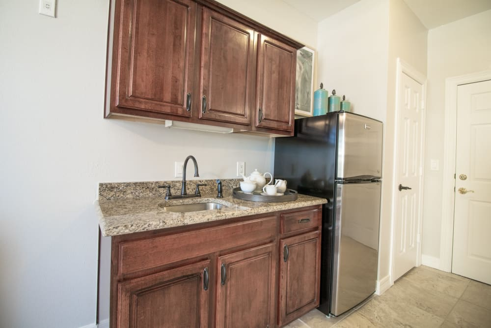 Senior living in Dallas features spacious kitchens