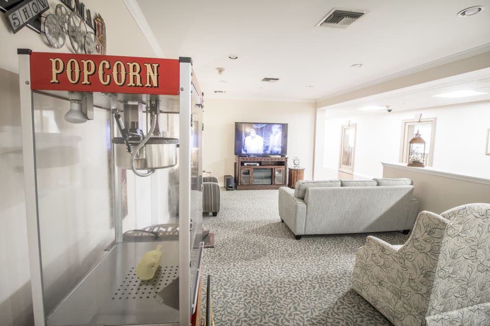 Senior living with a private bar for residents to socialize