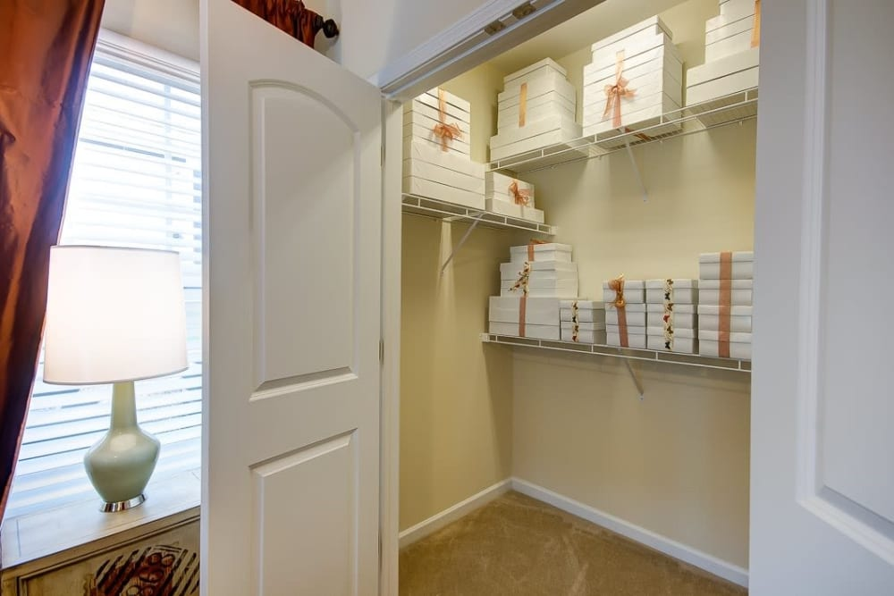 Spacious walk-in closets at Oasis at Montclair Apartments in Dumfries, Virginia