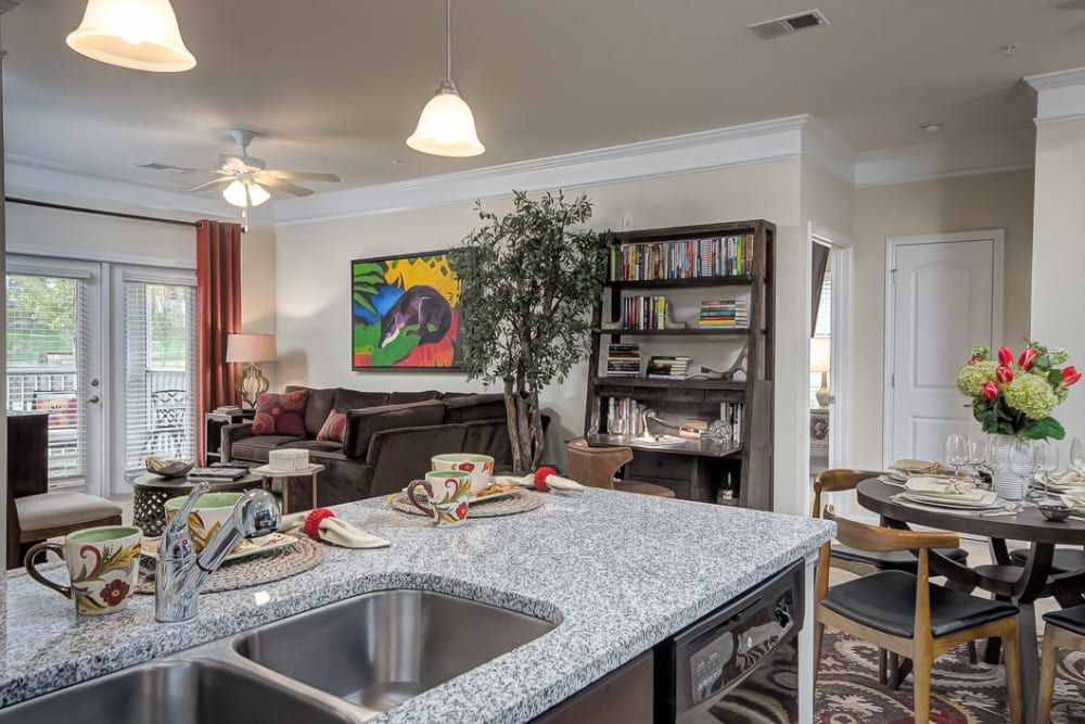 Well decorated model apartments at Oasis at Montclair Apartments in Dumfries, Virginia