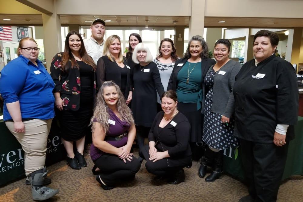 Team members at Evergreen Senior Living in Eugene, Oregon