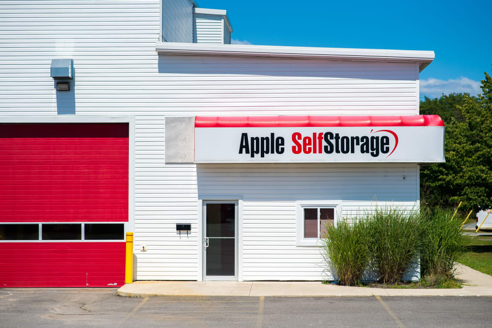 Entrance to Apple Self Storage - Saint John North in Saint John, New Brunswick