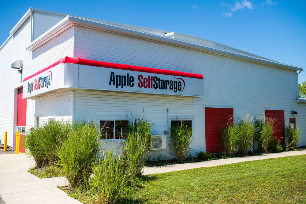 Welcoming entrance to Apple Self Storage - Saint John North in Saint John, New Brunswick