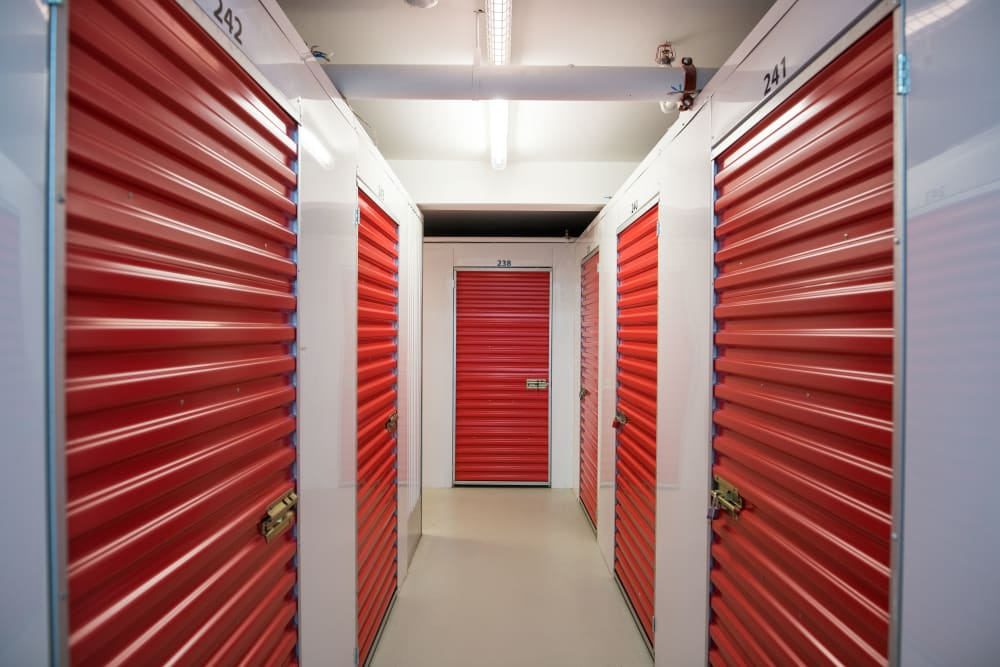 Bright hallway at Apple Self Storage - Saint John North in Saint John, New Brunswick