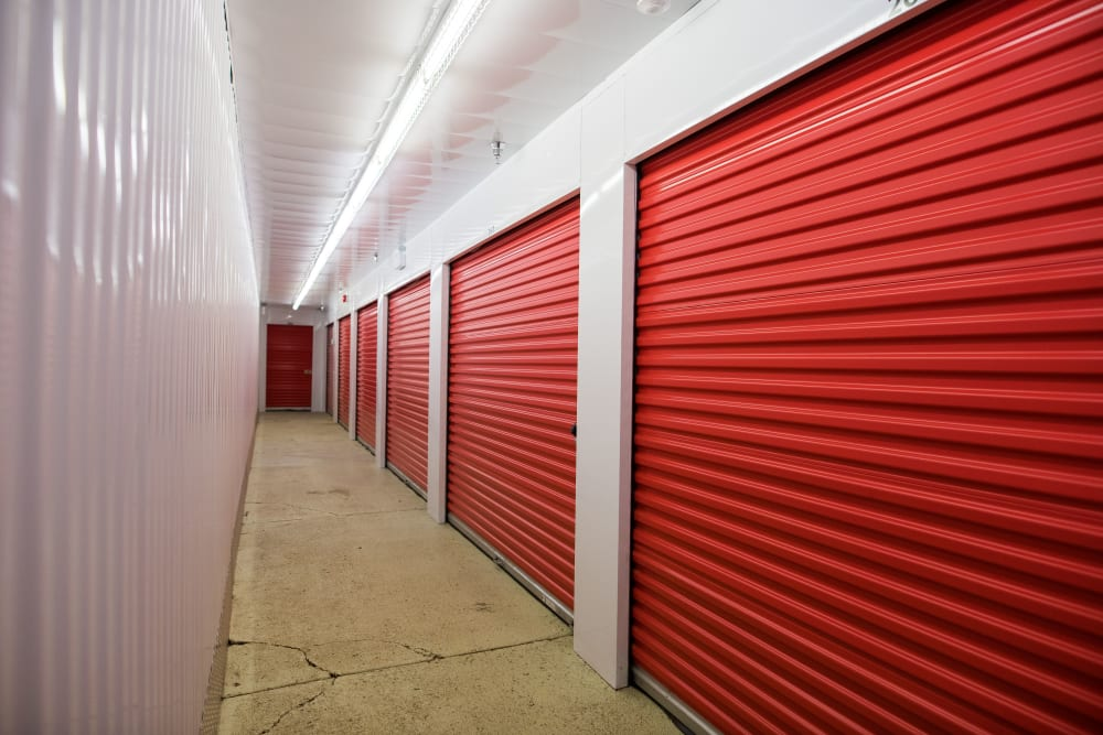 Wide hallway at Apple Self Storage - Saint John North in Saint John, New Brunswick
