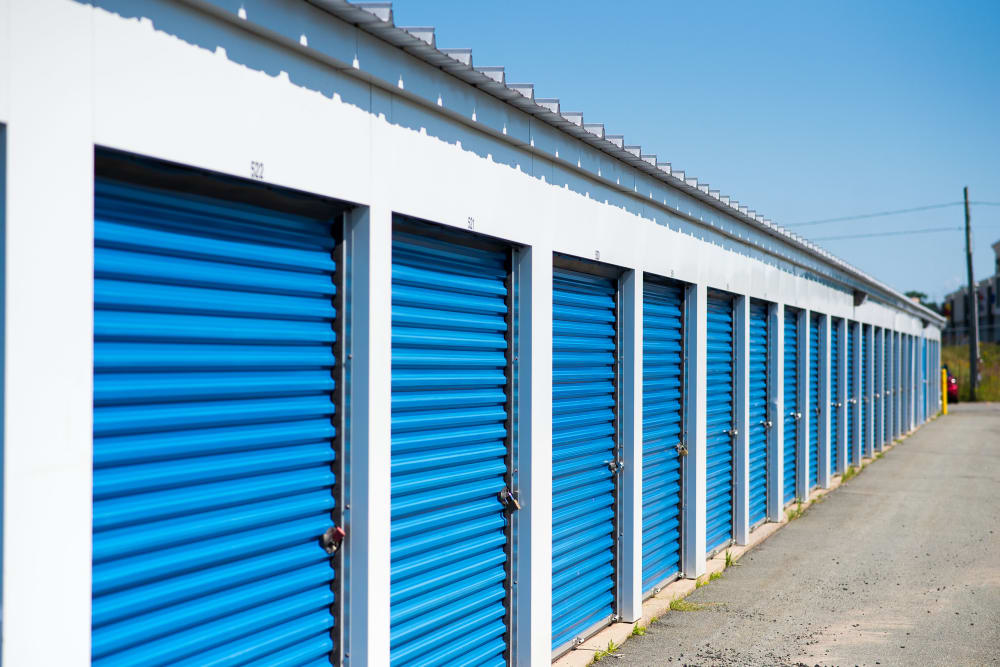 Apple Self Storage - Saint John West in Saint John, New Brunswick, exterior storage units