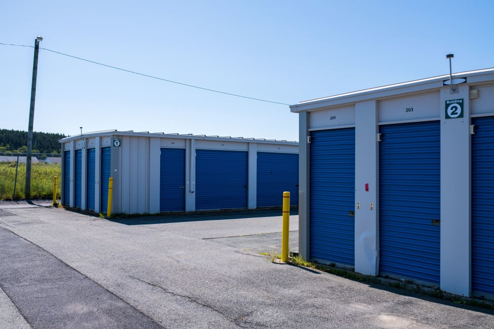 Wide driveways at Apple Self Storage - Saint John West in Saint John, New Brunswick