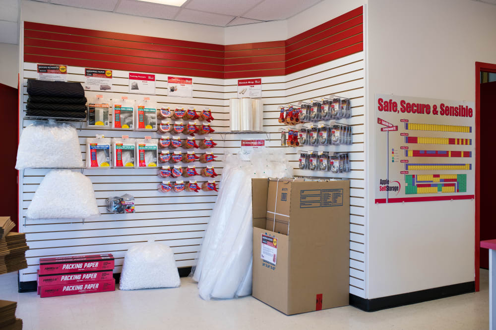 Packing supplies are available at Apple Self Storage - Saint John West in Saint John, New Brunswick